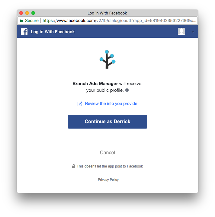 Facebook App Install Ads - Branch Docs