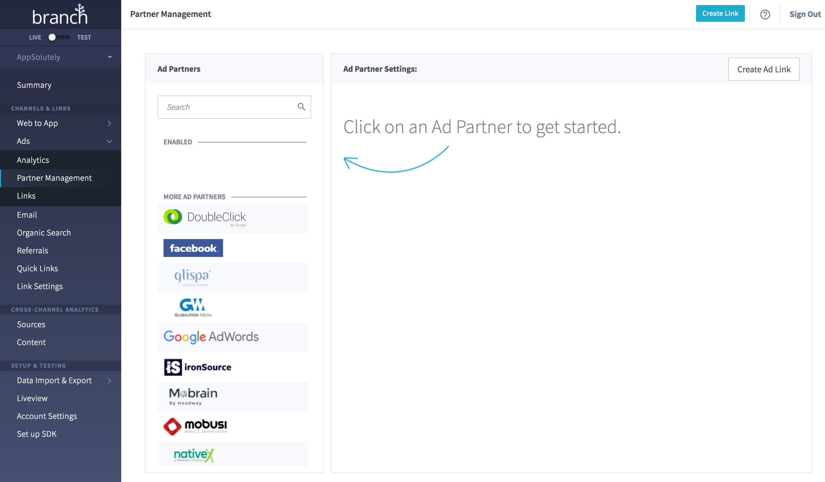 Ads Partner Management