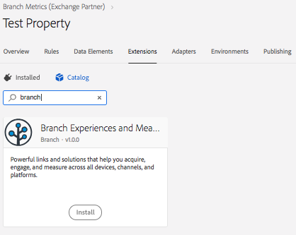 Adobe Launch Android SDK - Branch Docs