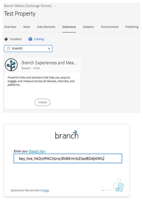 Adobe Launch Web Plugin - Branch Docs